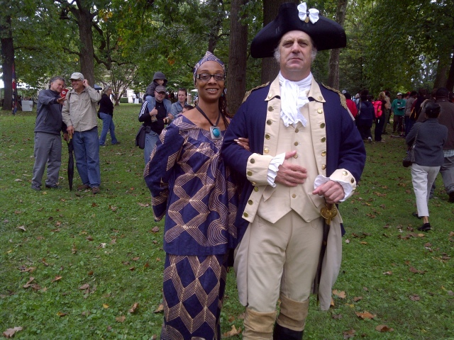 Denise Valentine, Stoyteller w/General George Washington @ Cliveden
