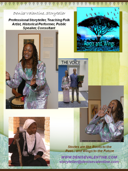 Denise Valentine, Storyteller (flyer)