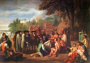 Treaty of Penn with Indians by Benjamin West (wikipedia/commons)
