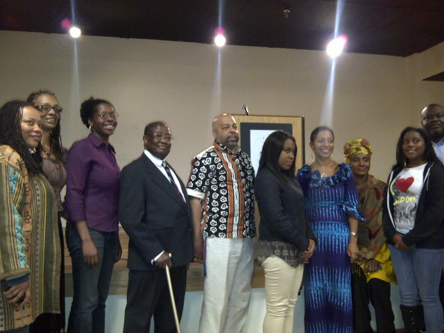 Honorable Samia Yaba Nkrumah M.P., (4th from right)