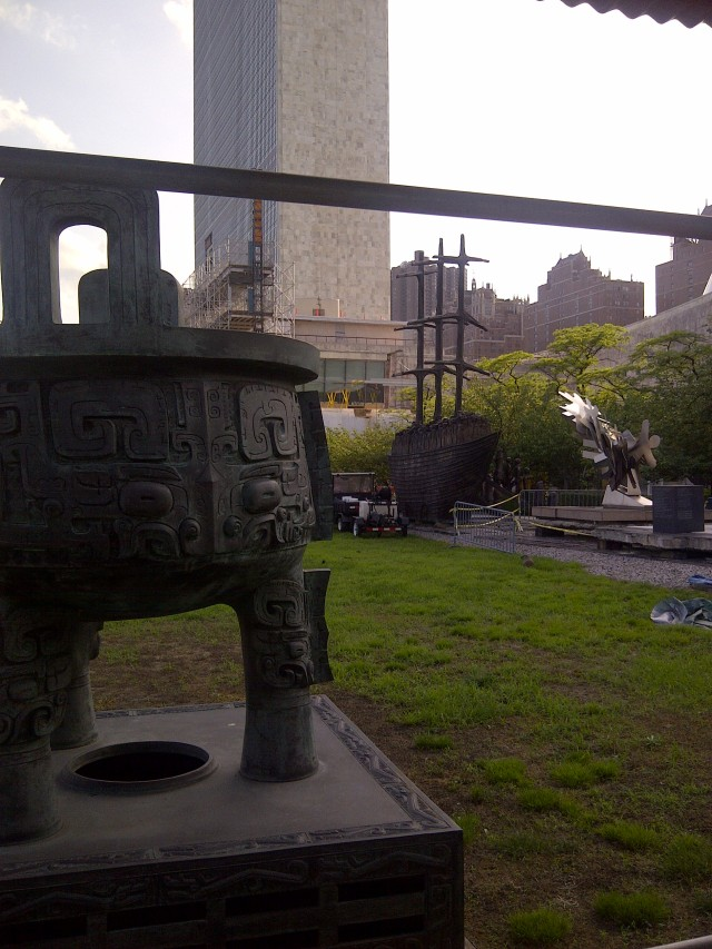 Sculpture memorializing the Middle Passage @ the United Nations - Manhattan-20120529