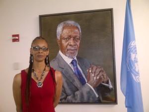 Denise Valentine wPortrait of Kofi Annan-20120529