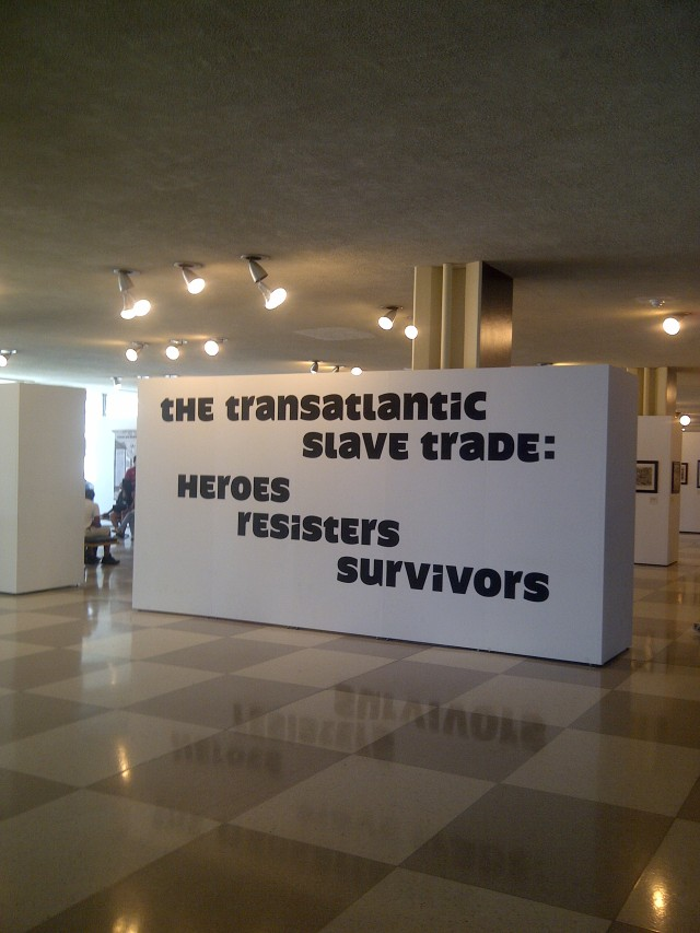 United Nations - Manhattan NY -  Exhibit commemorating the Transatlantic Slave Trade: Heroes Resisters Survivors, Photo by Denise Valentine